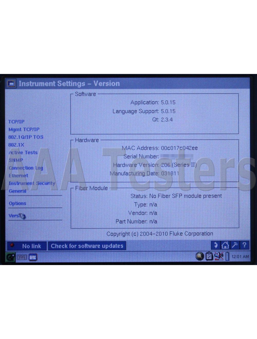 FLUKE Networks EtherScope Series II Network Assistant w// Case