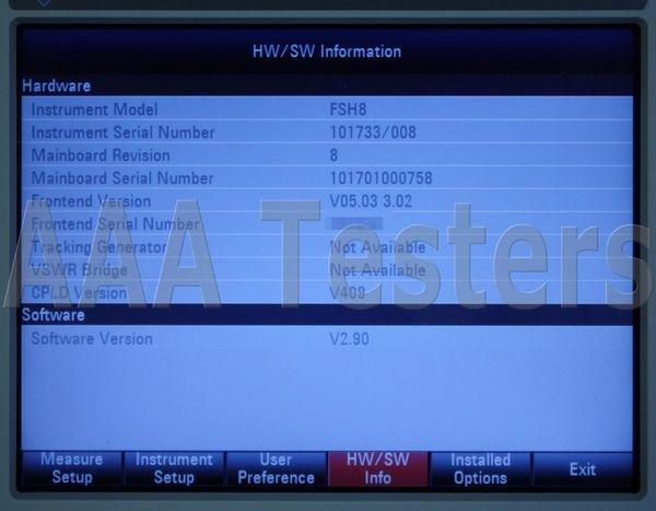 Rohde & Schwarz FSH8 8 08 Handheld Spectrum Analyzer